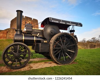 Traction Engine at Castle