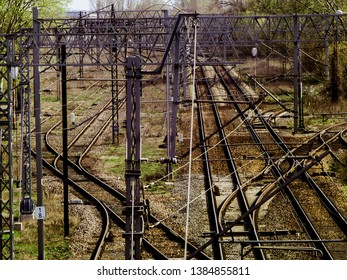 traction and railway infrastructure in city