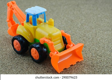 tractor backhoe plastic toy