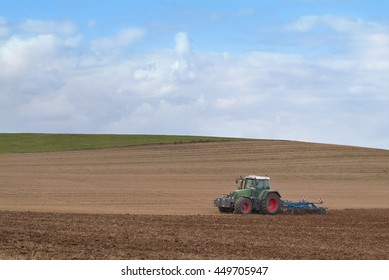 tractor and field