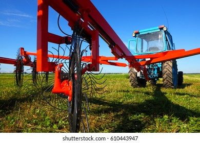 Tractor on a farmer field
