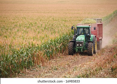 Tractor on harvest