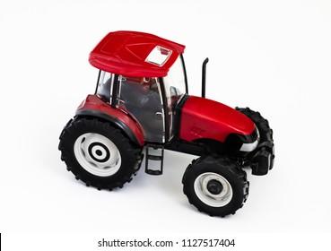 Tractor on white ground