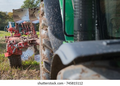Tractor and Plough at Ploughing Match