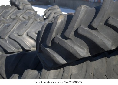 tractor tire big wheel rubber recycling background