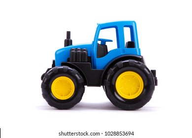 Tractor Toy For Children Toy Tractor On White Background