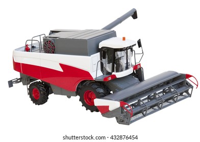 tractor toy on the white background