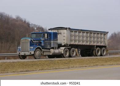 Tractor Trailer Dump Truck