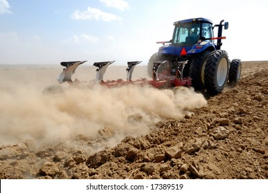 tractor working at field