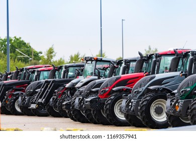 Tractors are ready for the dispatch