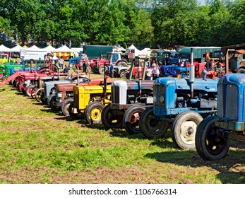 Tractors at Steam Rally or Fair, Sussex, England, UK, 3 June 2018