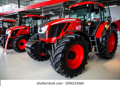 Tractors in Zetor Gallery Brno, Czech Republic. March 7th 2018. Editorial photo