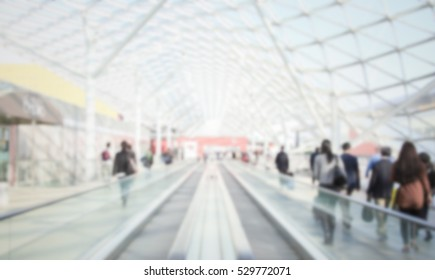 Trade show generic background with an intentional blur effect applied