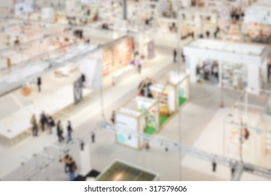 Trade show generic background, intentionally blurred post production.