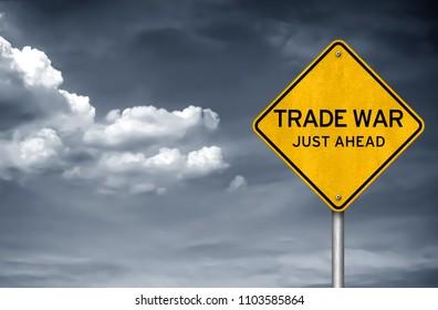 Trade War - street sign