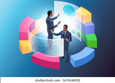 Trader working in technical visualization environment