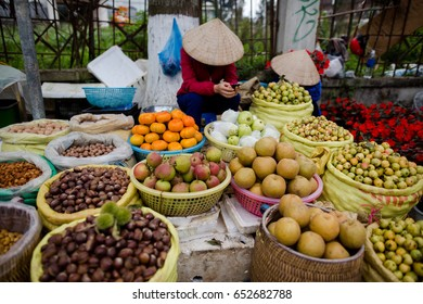 The traders sell nuts and dried food