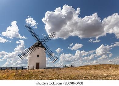 Tradicional Windmill in Ojos Negros, Teruel, Spain
