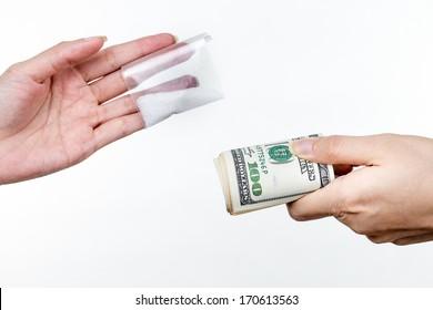 Trading money for drugs