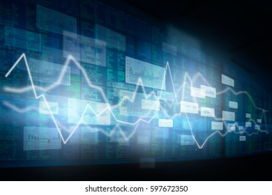 Trading securities abstract background.