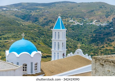 Traditial greek church in Mykonos, Greece.