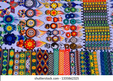 Tradition, art and culture Huichol Mexico.