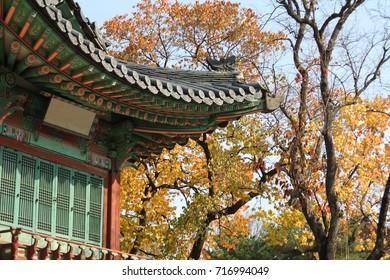 Tradition Asian house in Autumn season