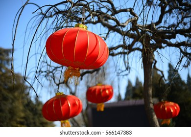 Tradition Chinese lanterns during Chinese New year