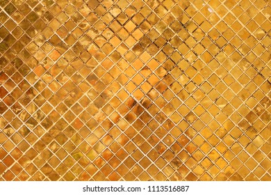 tradition golden tile mosaic glass wall