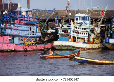 tradition lifestyle of pattani fishery port,THAILAND.