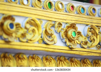 tradition thai stucco pattern background