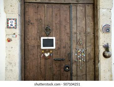 Traditional Aegean house door, Izmir, Turkey