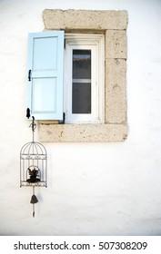 Traditional Aegean house window, Izmir, Turkey