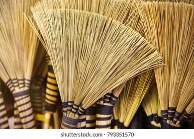 Traditional African brooms background