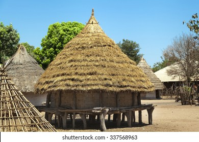 traditional african house in rural Guinea-Bissau