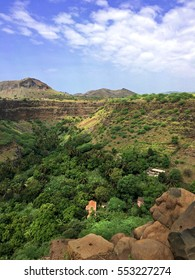 A traditional African house in the the wonderful valley - trekking to Cidade Velha - the first Unesco Heritage place in Cape Verde, Africa