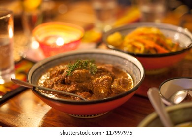 Traditional African lamb chunks ready to eat