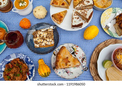 Traditional American food table