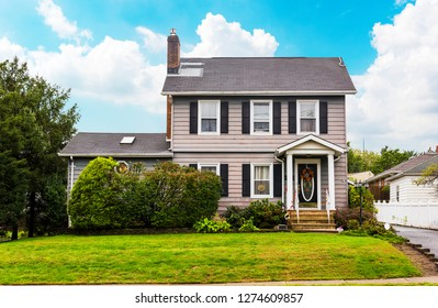 Traditional American House in New Jersey, USA. Beautiful old style American house.