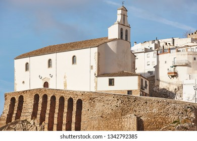 Traditional andalusian white chapel in Jaen. Torres village, Spain tourism