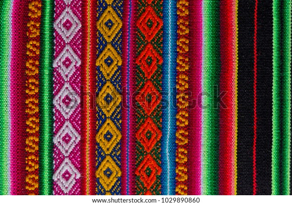 Traditional Andean Tapestry Northern Argentina Bolivia Stock