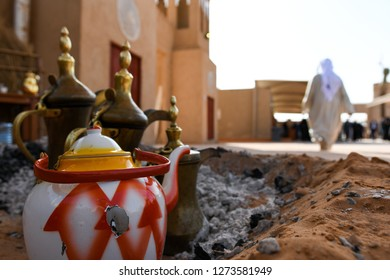 Traditional and an antique Arabic coffee pot (Dallah).