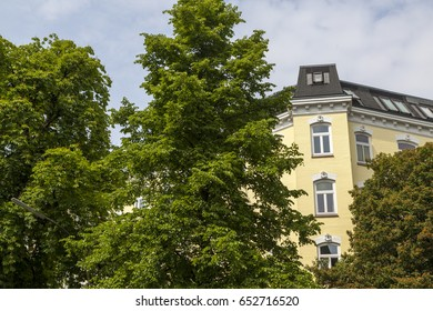 Traditional apartment buildings in Hamburg, Germany