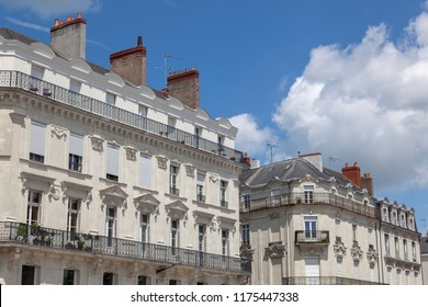 Traditional appartement buildings in Angers, France