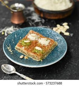 Traditional arabian sweet kanafeh