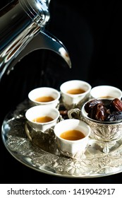 Traditional arabic cofee with dates