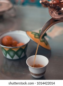 a traditional Arabic coffee and sweet