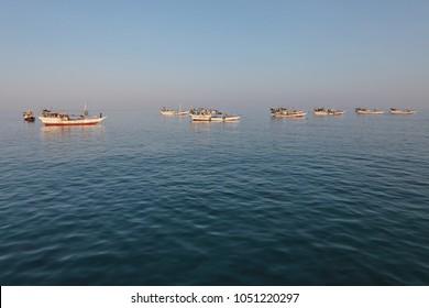 Traditional arabic fishing boats