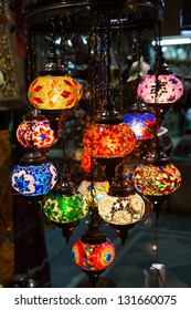 Traditional arabic lanterns on the market