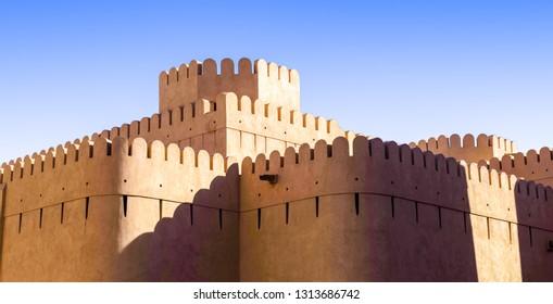 Traditional arabic (NIZWA) fort in the Oman